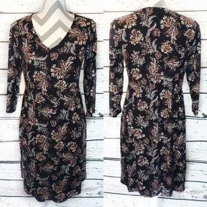 J. Jill Wearever Collection Long Sleeve Dress Sm